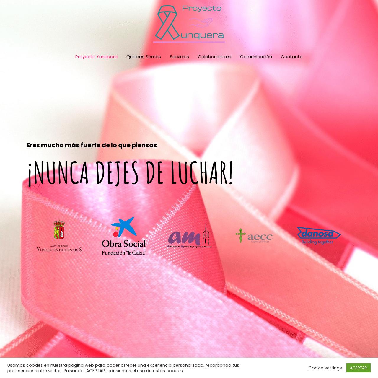 diseño web proyectoyunquera.org